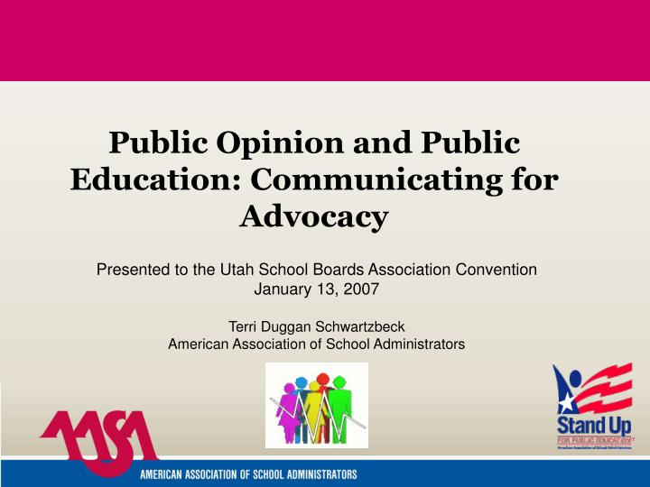 public opinion and public education communicating for advocacy n.