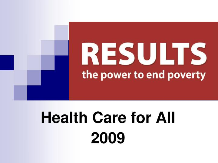 health care for all 2009 n.