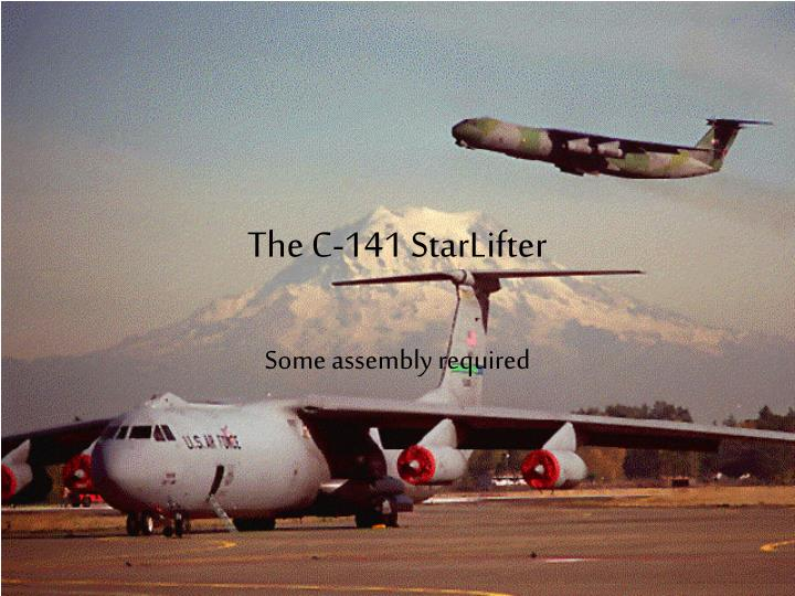 the c 141 starlifter n.