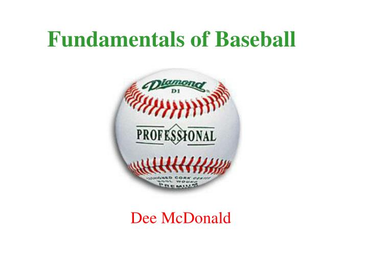 fundamentals of baseball n.