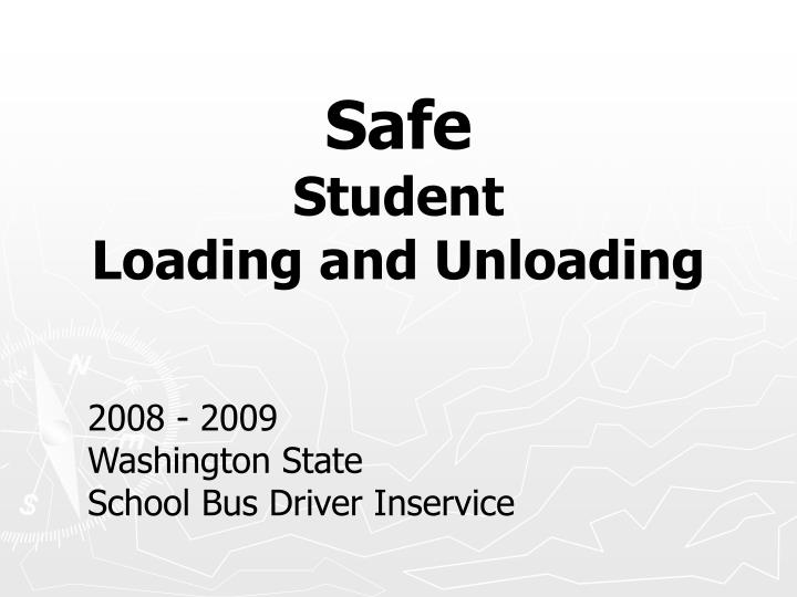 safe student loading and unloading n.