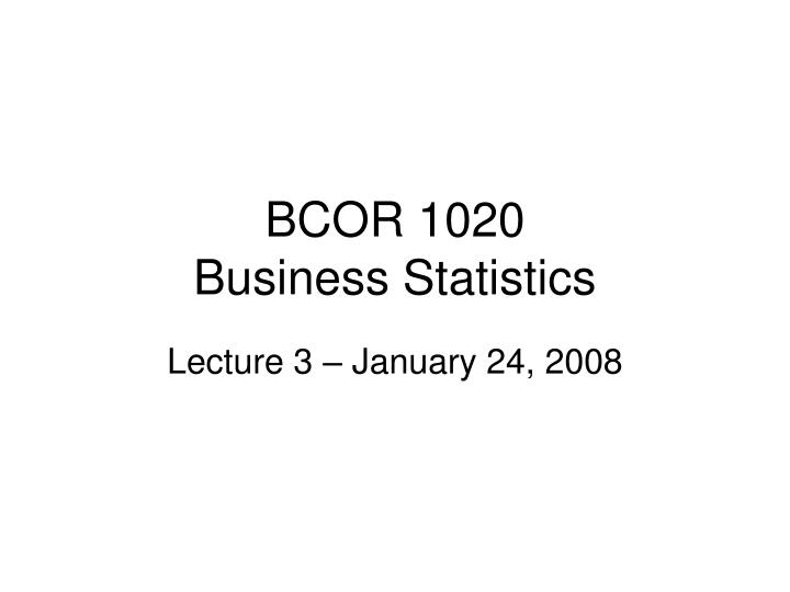bcor 1020 business statistics n.