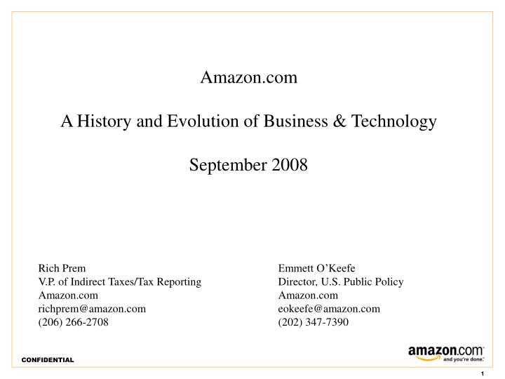 amazon com a history and evolution of business technology september 2008 n.