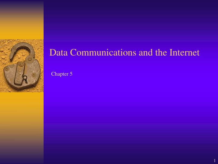 data communications and the internet n.