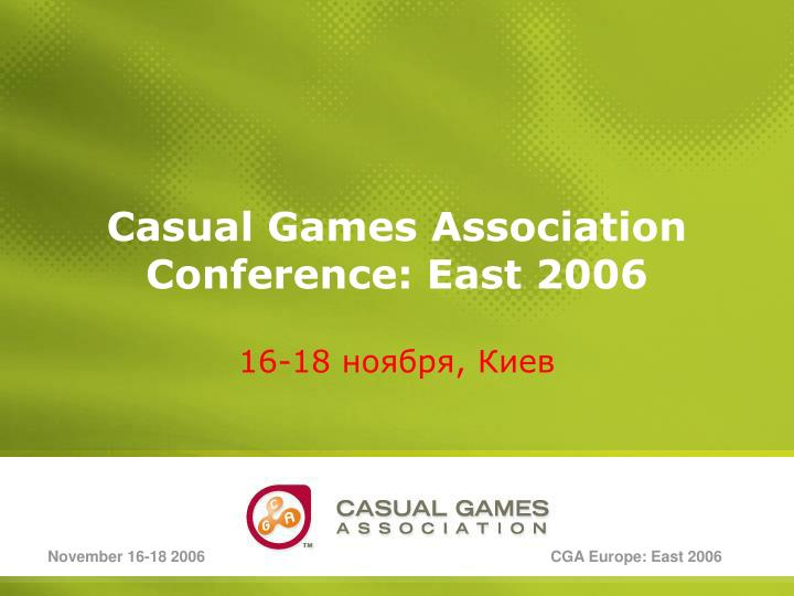 casual games association conference east 2006 n.