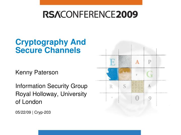 cryptography and secure channels n.