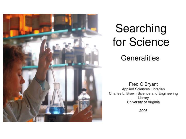 searching for science n.