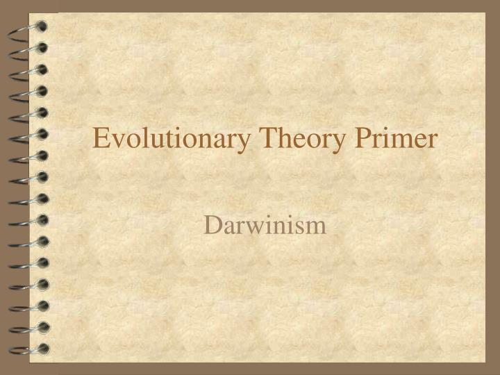 evolutionary theory primer n.