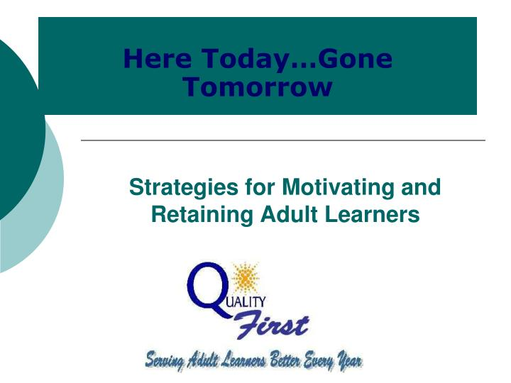 strategies for motivating and retaining adult learners n.