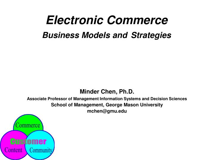 electronic commerce business models and strategies n.