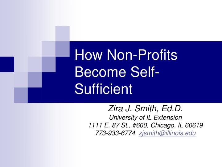 how non profits become self sufficient n.