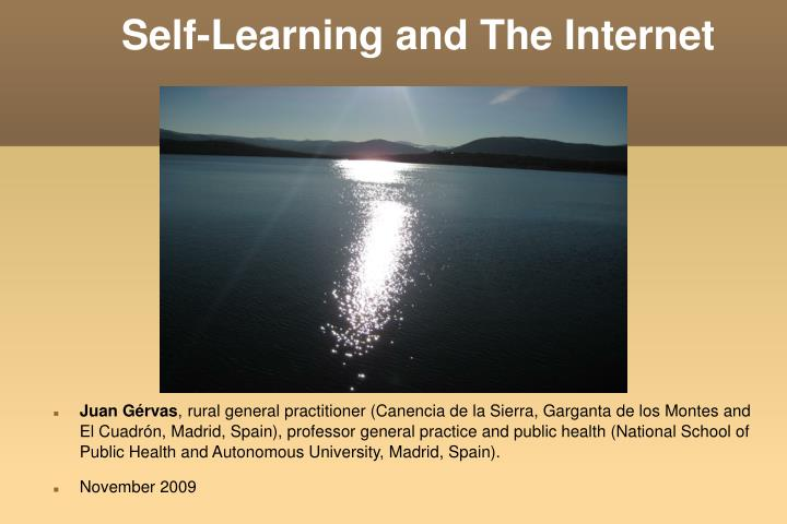 self learning and the internet n.