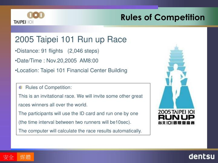rules of competition n.