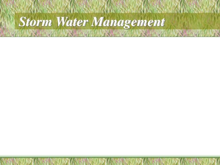 storm water management n.