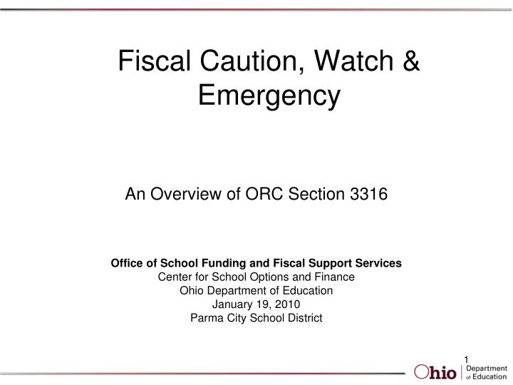 fiscal caution watch emergency n.