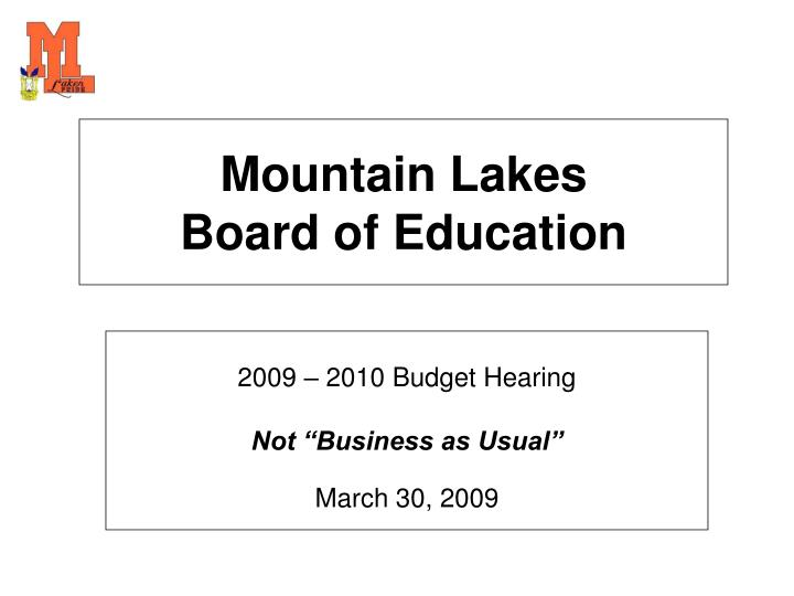 mountain lakes board of education n.