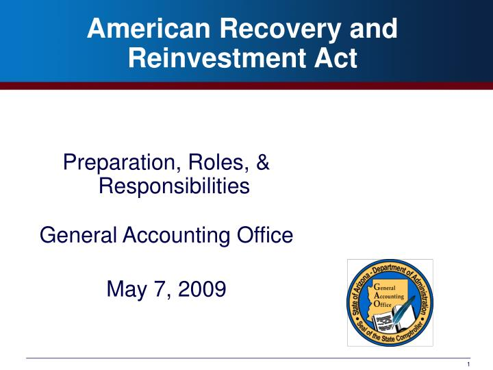 american recovery and reinvestment act n.