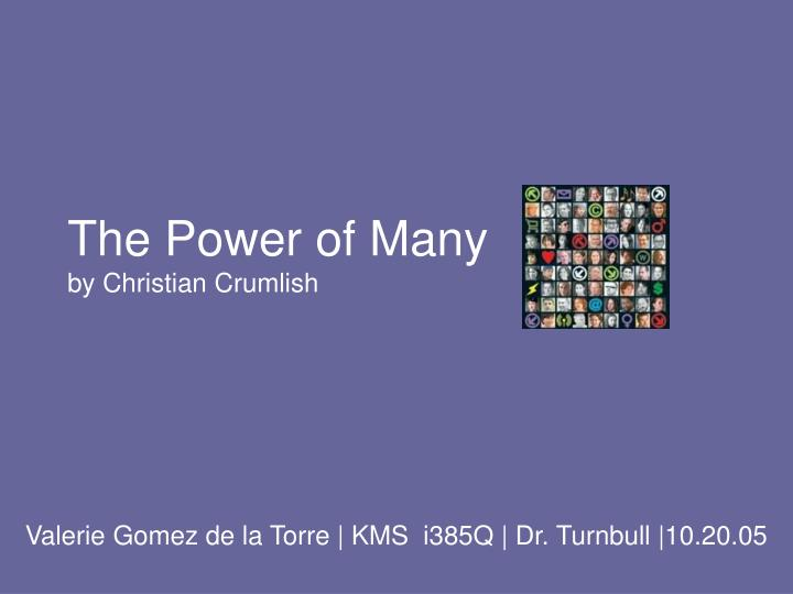 the power of many by christian crumlish n.