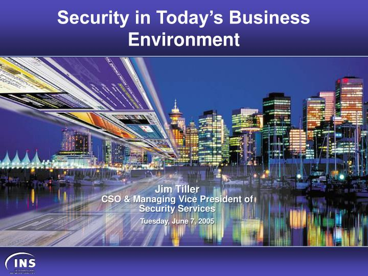 security in today s business environment n.
