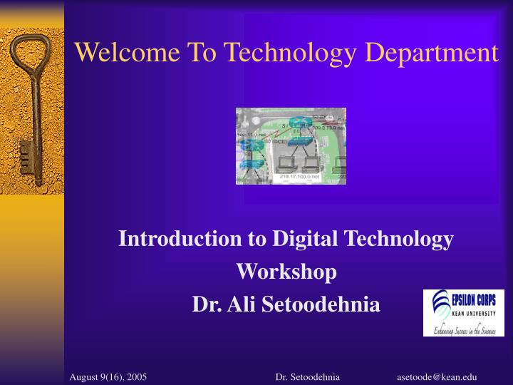 welcome to technology department n.