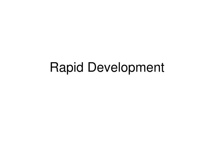 rapid development n.