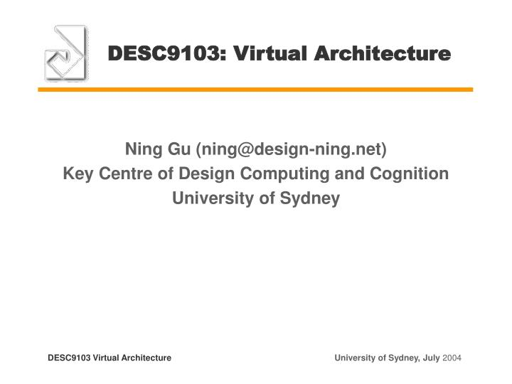 desc9103 virtual architecture n.