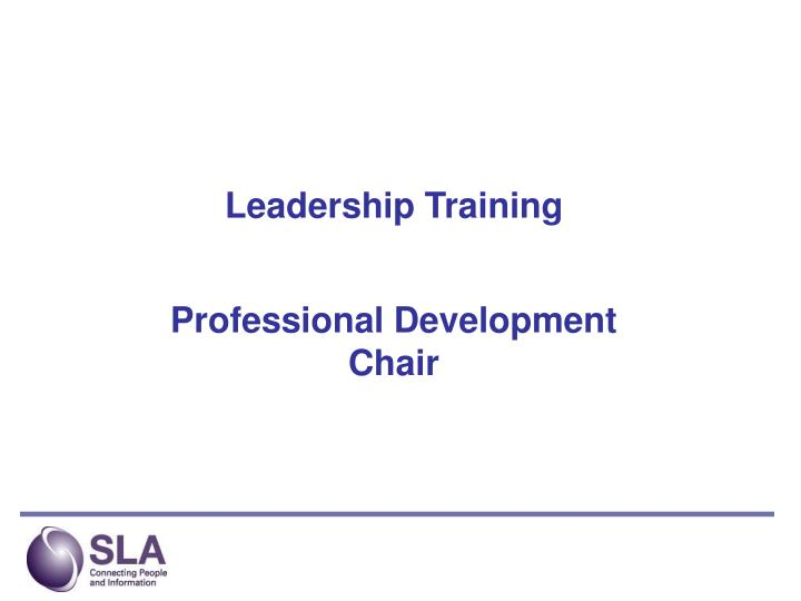 leadership training n.