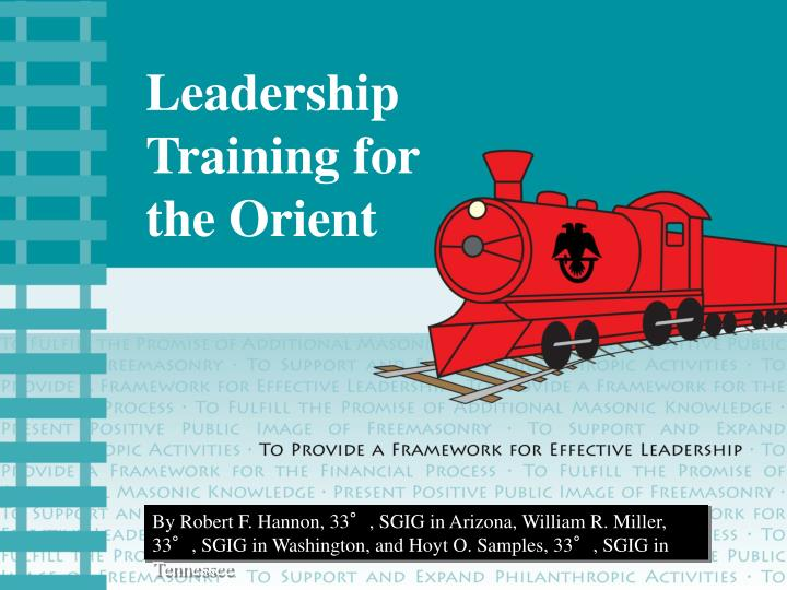 leadership training for the orient n.