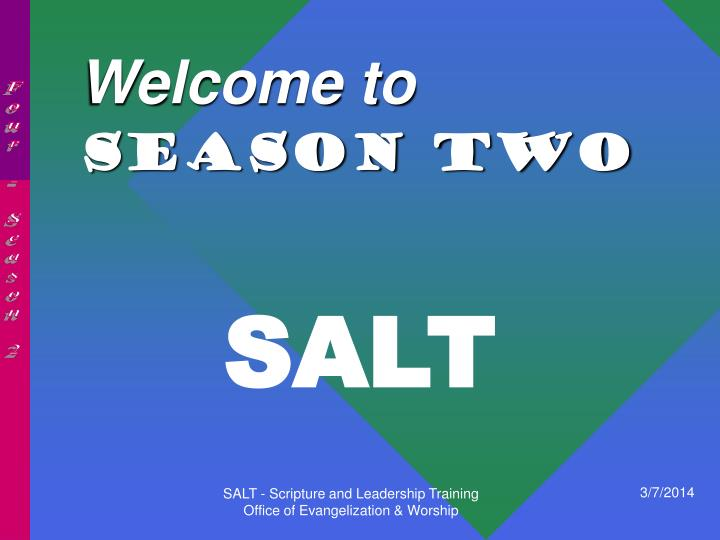 welcome to season two n.