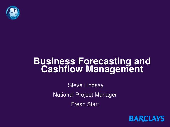 business forecasting and cashflow management n.