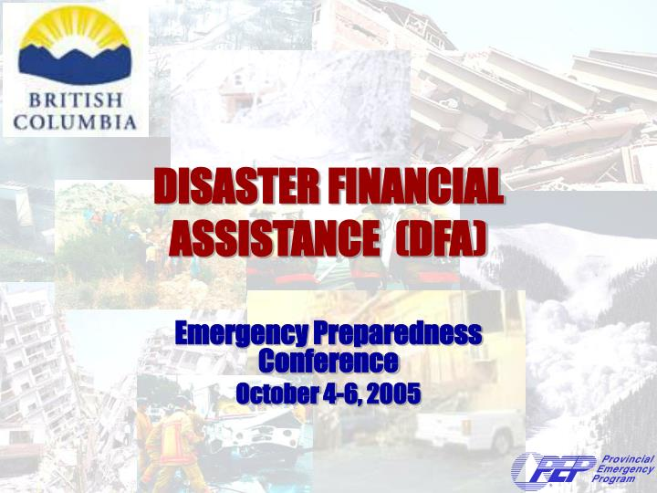 disaster financial assistance dfa n.