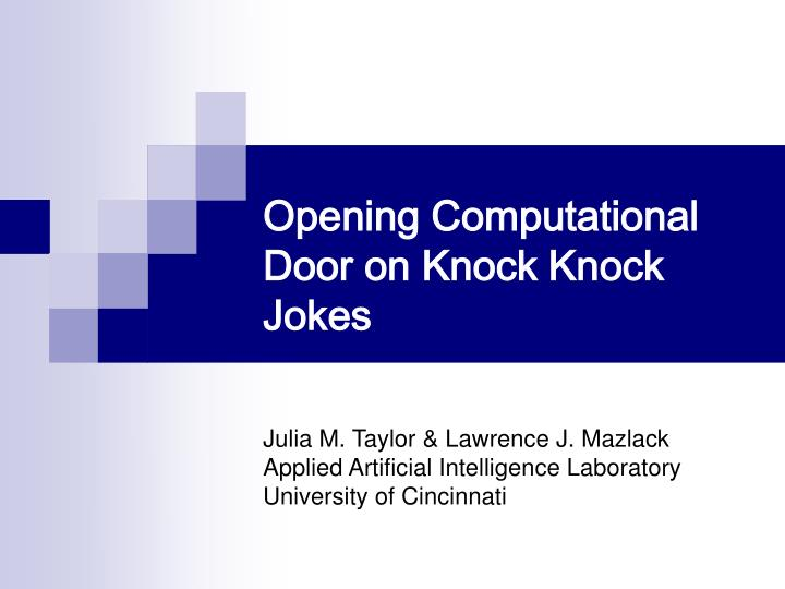 opening computational door on knock knock jokes n.