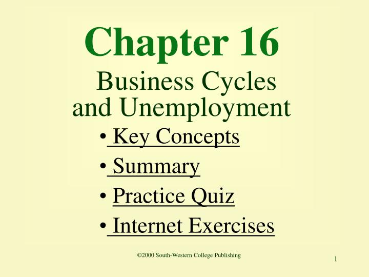 chapter 16 business cycles and unemployment n.
