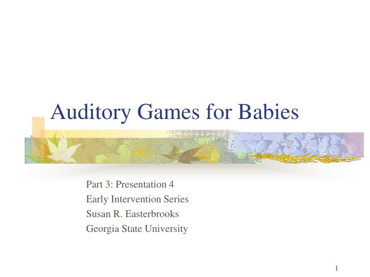 auditory games for babies n.