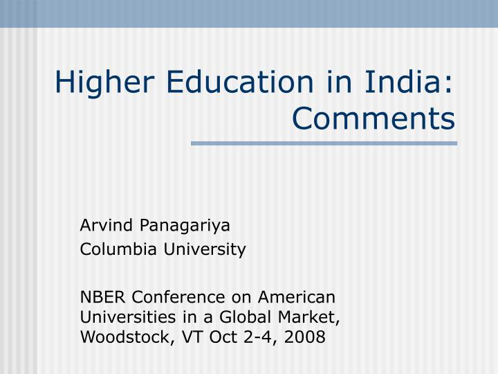 higher education in india comments n.