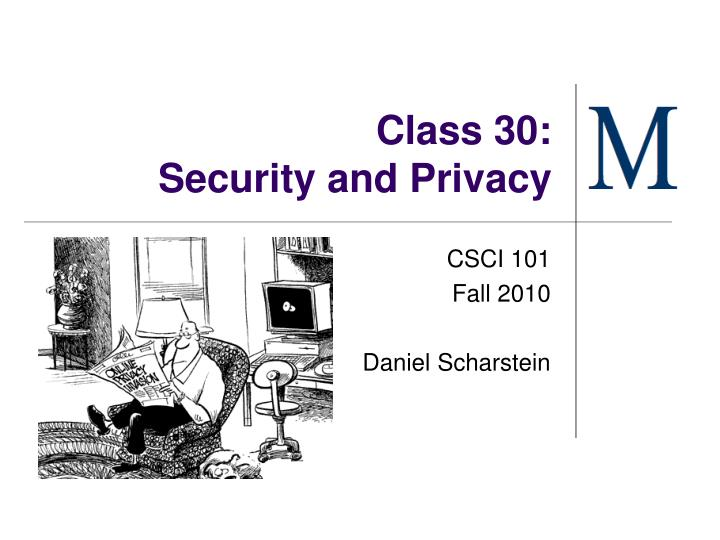 class 30 security and privacy n.