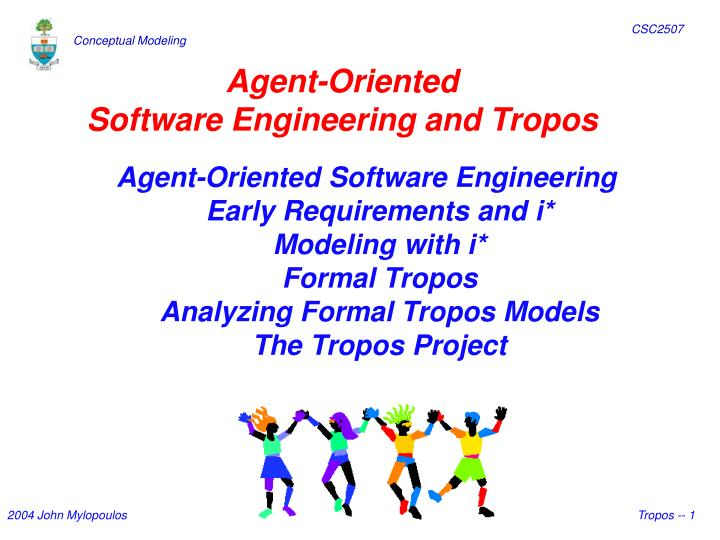 agent oriented software engineering and tropos n.