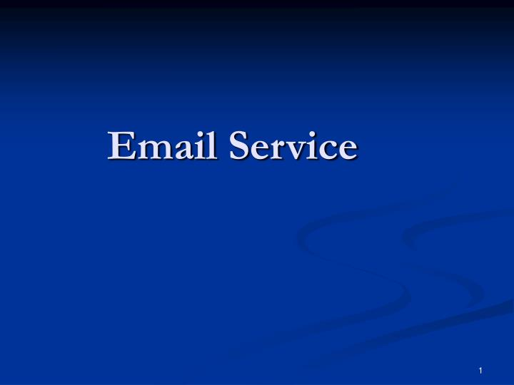 email service n.