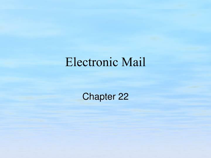 electronic mail n.