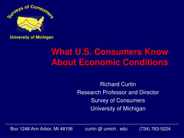 what u s consumers know about economic conditions n.