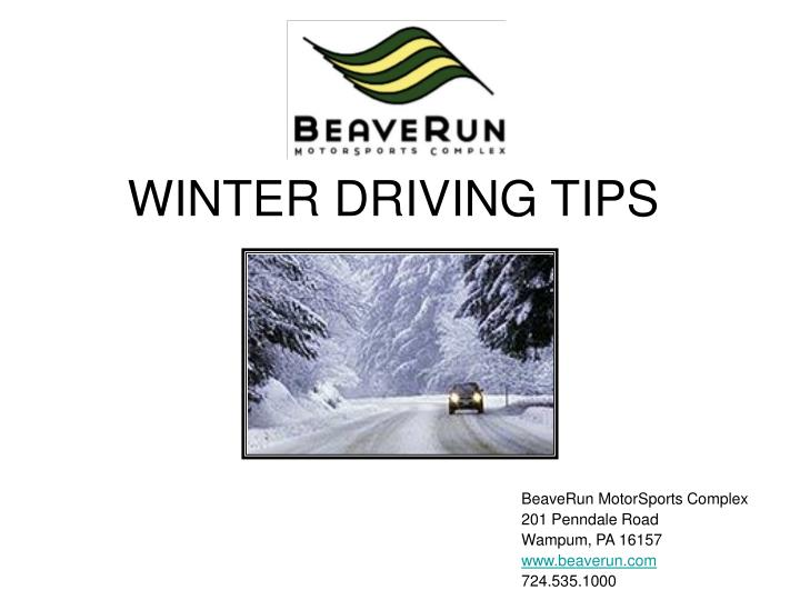 winter driving tips n.