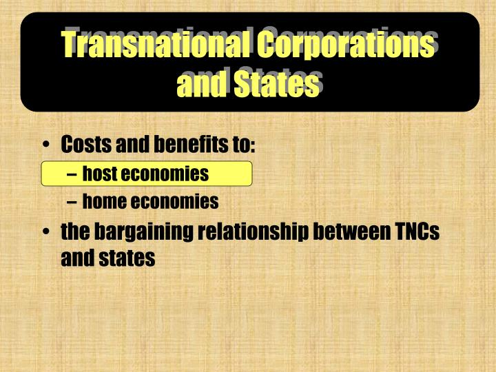 transnational corporations and states n.