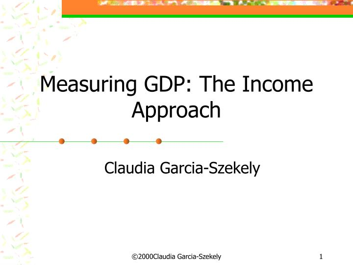 measuring gdp the income approach n.