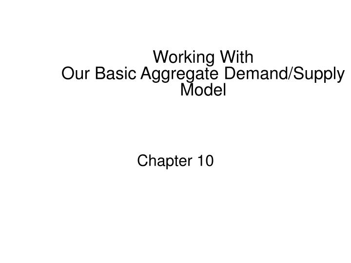 working with our basic aggregate demand supply model n.
