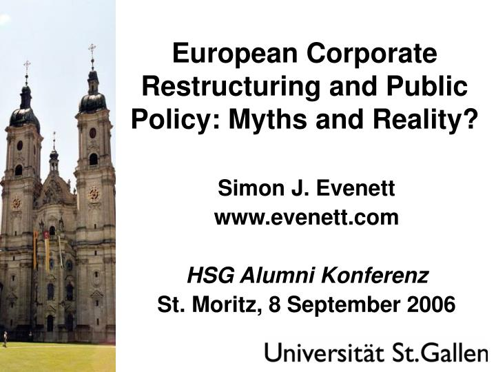 european corporate restructuring and public policy myths and reality n.