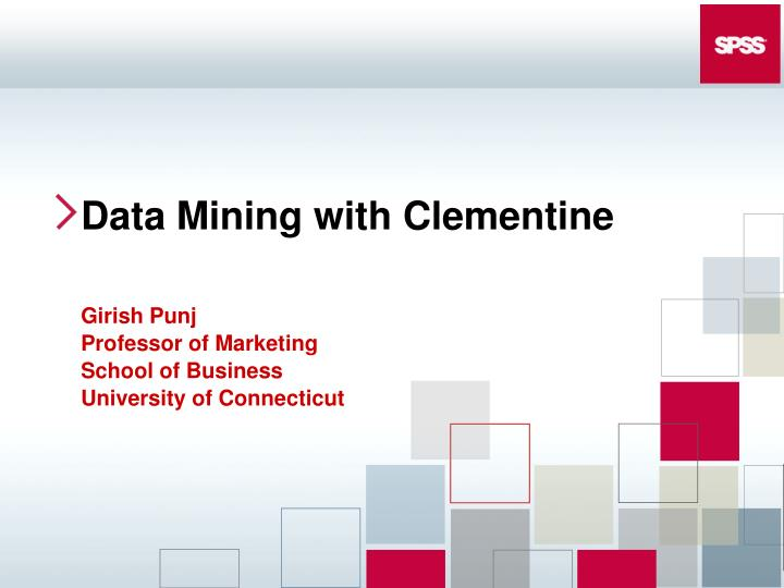 data mining with clementine n.