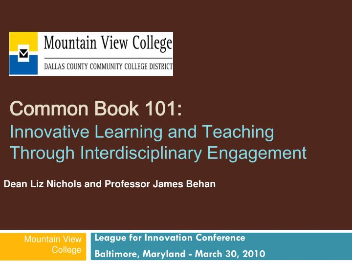 common book 101 innovative learning and teaching through interdisciplinary engagement n.