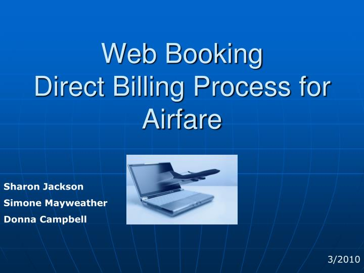 gt travel web booking direct billing process for airfare n.