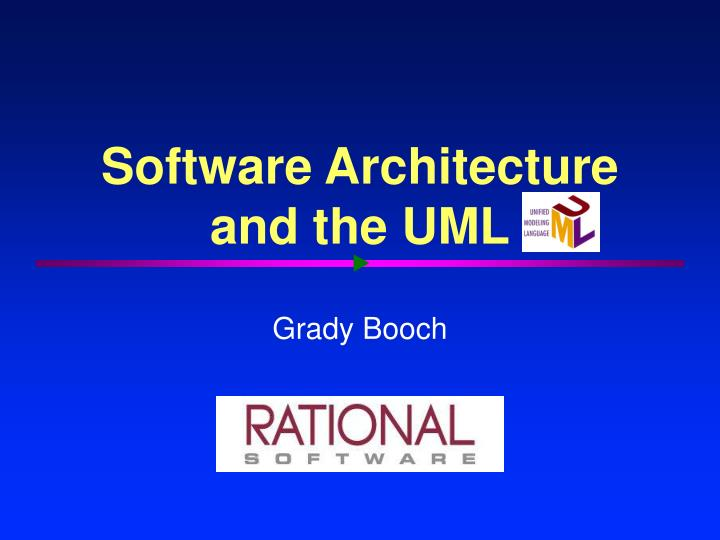 software architecture and the uml n.