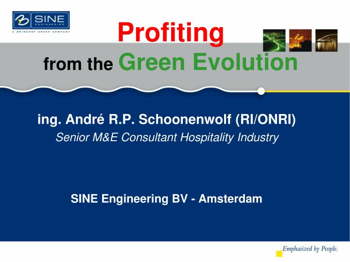 profiting from the green evolution n.